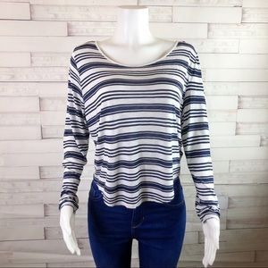 Divided H & M Long Sleeve Top White Size Large